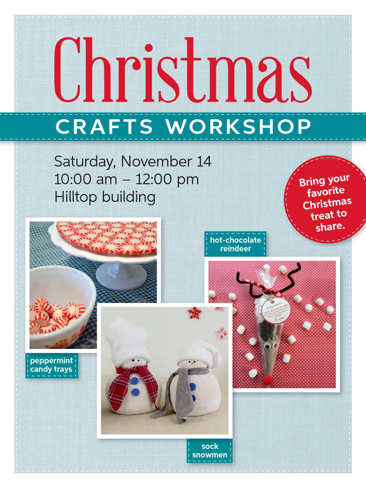 Christmas Craft Workshop poster