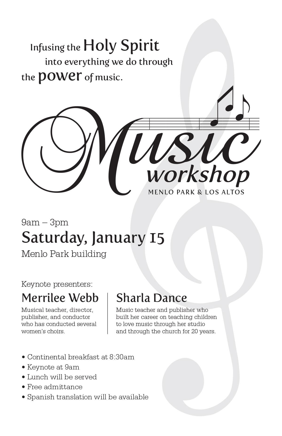 Music Workshop flyer