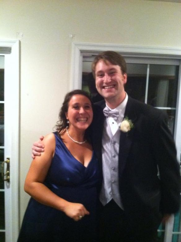 This is from their wedding in November: Luke and me.