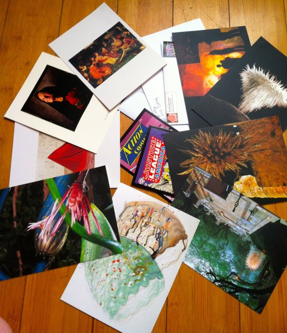 Some of the mail that I prepared today: thank you cards, letters, congratulations cards, and of course, Postcrossing items