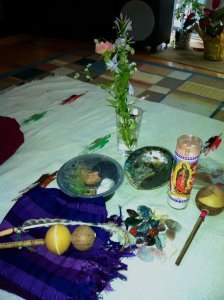 I've been apprenticing as a shaman and each month, I meet with my teacher and learn a little bit more.