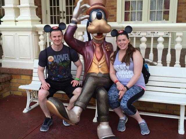 Sitting with Goofy
