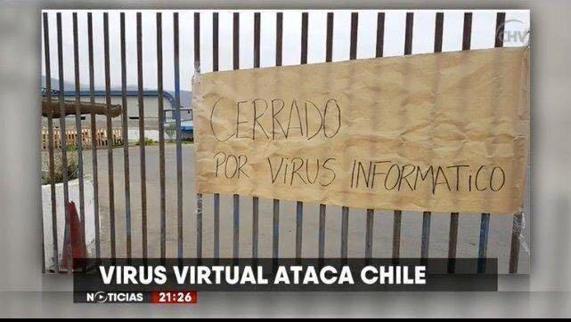 """Cerrado por """"virus virtual"""""""