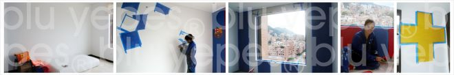 Soccer Room Wall Design - Painting Process - Monica Yepes - NYC Children´s Murals- Kids Muralist NYC