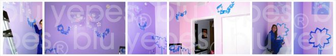Fairies Room Wall Design - Painting Process - Children´s Murals NYC - Miami, Florida - Monica Yepes - Kids Muralist NYC - Miami, FL