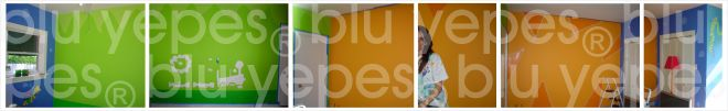 Aquarium Room Wall Design - Painting Process - Monica Yepes - Blu Yepes - Children Muralist NYC - Miami, FL
