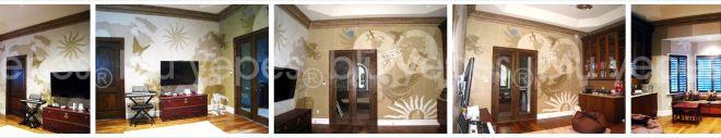 World Map Mural - World Room Wall Design - Final Painting - Monica Yepes - NYC - Children´s Murals New York City