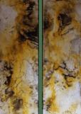 Besonders - Knochenleim, Marmormehl und Tuschen auf Leinwand - 120 x 40 cm