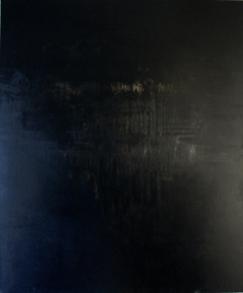 Blanc & Noir - Schwarz - Acryl, Beizen und Pigmente auf Leinwand - 120 x 100 cm