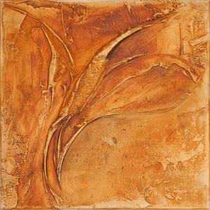 Farbklang I - Marmormehl, Pigmente und Dispersionsbinder auf Leinwand - 40 x 40 cm