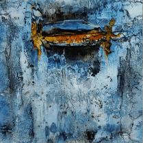Glamour - Marmormehl, Tuschen, Pigmente und Schellack auf Leinwand - 40 x 40 cm