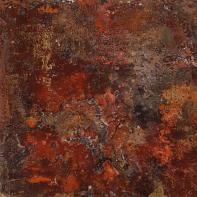 Lady Red - Sumpfkalk, Pigmente und Tuschen, Kunst-Kubus - 20 x 20 cm