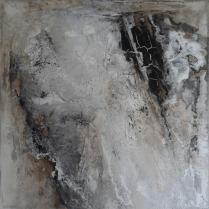 Mure - Marmormehl, Beizen und Pigmente auf Leinwand - 80 x 80 cm