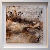 Traumwelten II - Sumpfkalk, Schellack, Schiefermehl, Wachs und Gold auf Holz - 40 x 40 cm