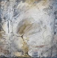 Häutungen II – Marmormehl, Knochenleim, Pigmente – Tuschen – 40 x 40 cm