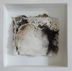 Kleine Kostbarkeiten I - Seidelbastpapier, Baumaterial, Sumpfkalk, Pigmente, Tuschen – 20 x 20 cm – Kunstfabrik Hannover 2017