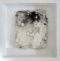 Kleine Kostbarkeiten VI - Seidelbastpapier, Baumaterial, Sumpfkalk, Pigmente, Tuschen – 20 x 20 cm – Kunstfabrik Hannover 2017