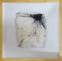 Kleine Kostbarkeiten VII - Seidelbastpapier, Baumaterial, Sumpfkalk, Pigmente, Tuschen – 30 x 30 cm – Kunstfabrik Hannover 2017