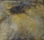 Sommernachtstrau II - Seidelbastpapier, Baumaterial, Tuschen, Pigmente – 70 x 70 cm – Kunstfabrik Hannover 2017