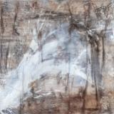 FREIHEIT - 2018, Sumpfkalk, Haftputzgips, Pigmente auf Leinwand, 100 x 100 cm