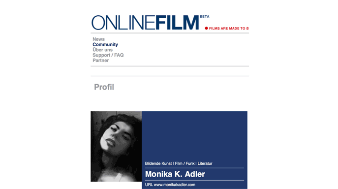 Monika K. Adler, film director. online film Berlin, 2018