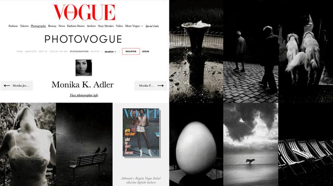 Monika K. Adler, photographer, Vogue Italia Portfolio, Photovogue, Vogue Italia, 2018