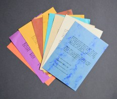 Coloured flyers