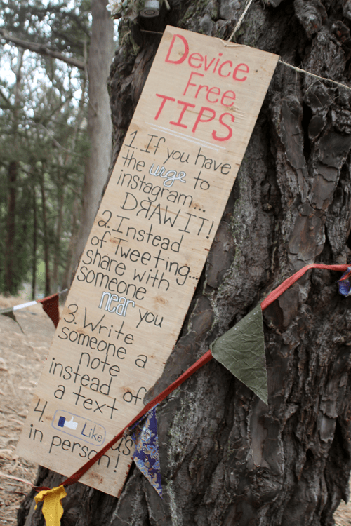 Digital Detox - Device free tips at Outsidelands