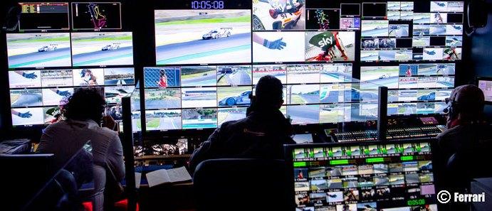 Tutto il sistema 4K HDR ready, 4 camere on board, nuova telemetria live dalle auto e AR real time nel Ferrari Challenge