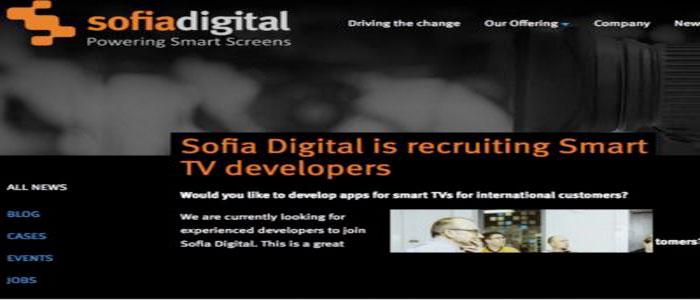 Sofia Digital sta reclutando sviluppatori di Smart TV