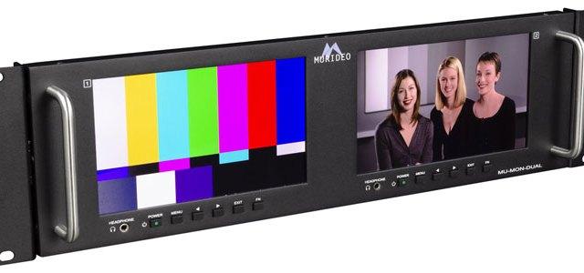 Murideo lancia il Test Monitor 4K a doppio schermo montato a rack