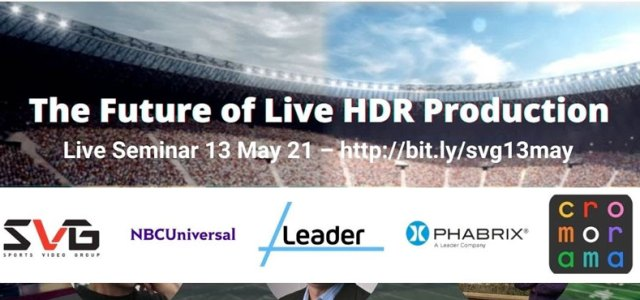 The Future of HDR Live Production