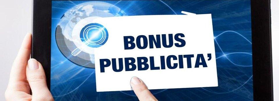 Bonus pubblicità anche per radio e tv