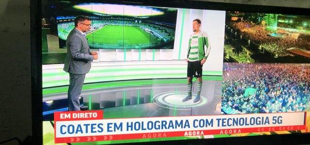 La prima partita di calcio trasmessa su rete 5G in Portogallo