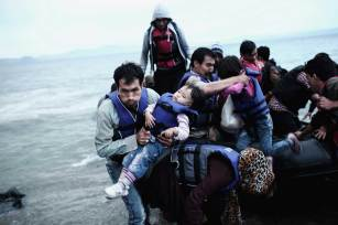 © Angelos Tzortzinis, Grecia, ganador en la categoría de asuntos actuales,, Sony World Photography Awards 2016 / AFP