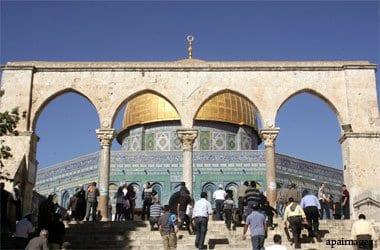 El complejo de la mezquita de Al Aqsa en Jerusalén