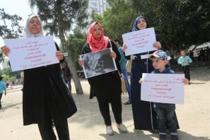 Gazans-Organise-Protest-For-Syrians-in-Aleppo-May-2-2016-004