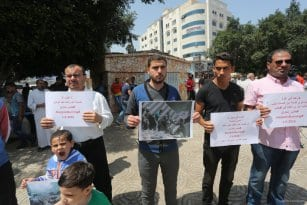 Gazans-Organise-Protest-For-Syrians-in-Aleppo-May-2-2016-005