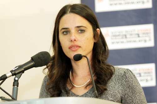 La ministra de Justicia israelí, Ayelet Shaked