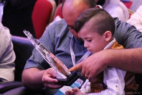 Estambul, Turquía: Ahmed Dawashbeh, un símbolo de supervivencia durante la Conferencia de Medios por Palestina.