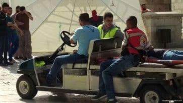 Palestinian-medics-at-aqsa-after-Israeli-forces-clash-during-ramadan-2016-2