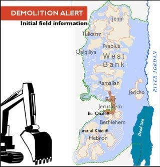 50-family-members-homeless-after-Israeli-demolitions-2016-map