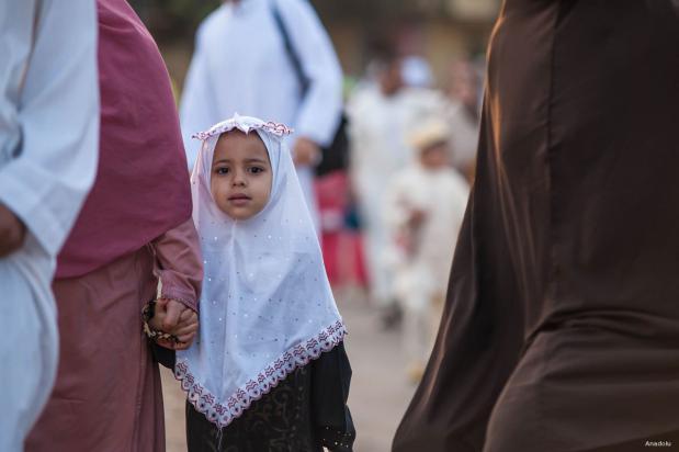 SALÉ, MARRUECOS: Lista para la oración del Eid.