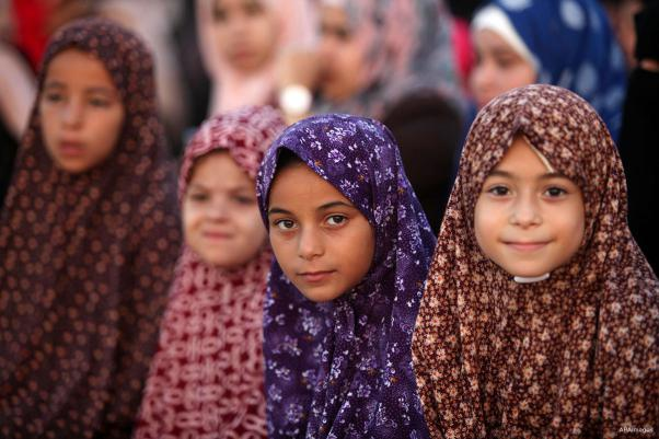 KHAN YUNIS, GAZA, PALESTINA: !Sonríe, es fiesta!