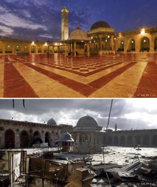La Mezquita Umayyad en el Viejo Alepo (Carlo Ohanian / Olympia)