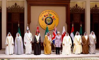 Los líderes posan para una foto durante la sesión de clausura de la 37 ª Cumbre de Líderes por los Estados miembros del Consejo de Cooperación del Golfo en el Palacio Al-Sakhir en Manama, Bahrein el 7 de diciembre de 2016 [Stringer / Agencia Anadolu]