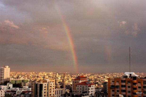 GAZA CITY, GAZA- En algún lugar del arco iris