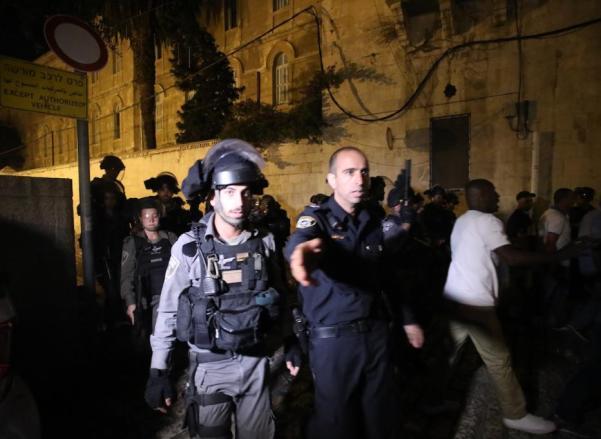 Las fuerzas de ocupación israelí custodian el área de la mezquita de Al-Aqsa (Mostafa Alkharouf/Agencia Anadolu)
