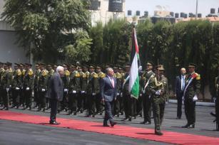 El rey Abdullah II bin al-Hussein de Jordania llega a Ramala, Cisjordania el 7 de agosto de 2017 [Issam Rimawi / Agencia Anadolu]