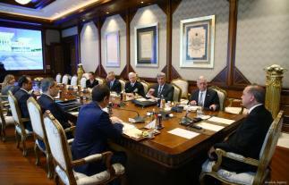 El Presidente de Turquía, Recep Tayyip Erdogan, recibe el Secretario de Defensa de los Estados Unidos, James Mattis en el Complejo Presidencial en Ankara, Turquía el 23 de agosto de 2017 [Kayhan Özer / Agencia Anadolu]